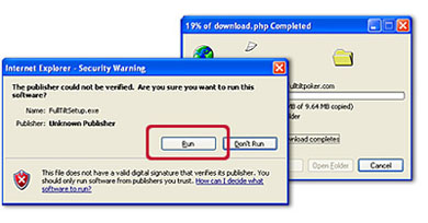 The initial download process should take less than a minute (depending on the speed of your internet connection